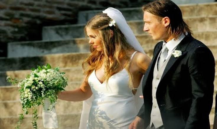 Ilary e Totti al matrimonio
