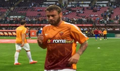 Milan-Roma De Rossi in allenamento