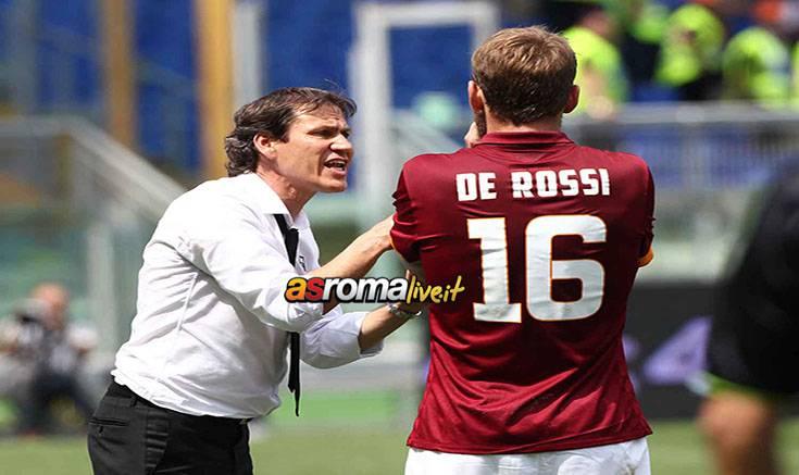 Roma-Genoa Garcia e De Rossi