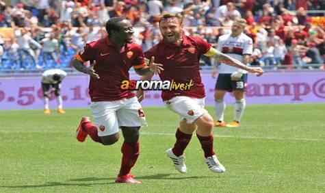 Roma-Genoa esultanza Doumbia