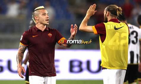 Roma-Udinese Nainggolan e Balzaretti
