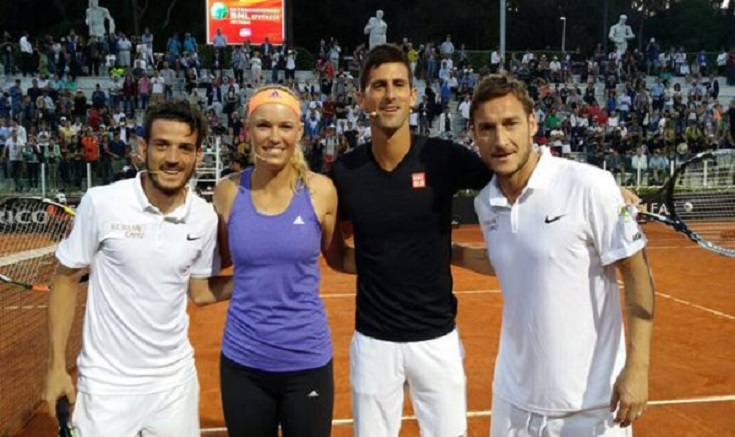 Totti e Djokovic