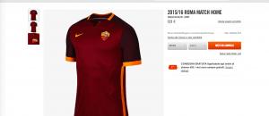 La nuova maglia della Roma in vendita online