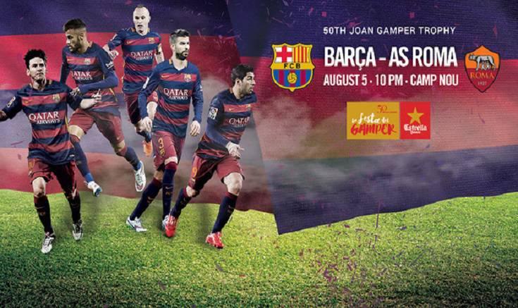 Barcellona roma info biglietti peril 5 agosto for Agosto a barcellona