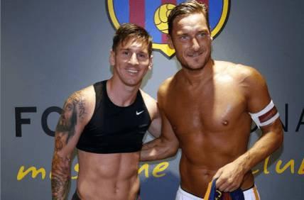 Messi e Totti (instagram)