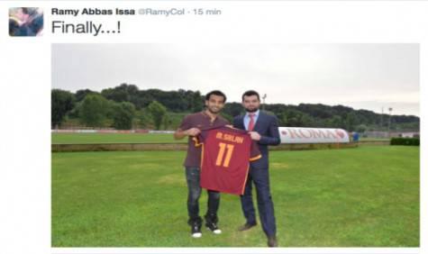 "Il tweet di Ramy Abbas: ""Finalmente!"""