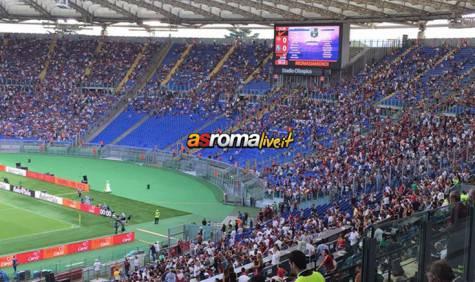 Roma-Sassuolo Curva Sud Sciopero