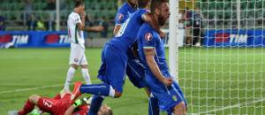 Italia-Bulgaria, esultanza De Rossi