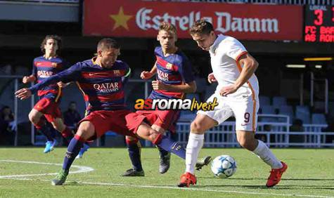 Youth League Barcellona-Roma Ponce