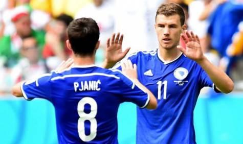 Pjanic e Dzeko Bosnia