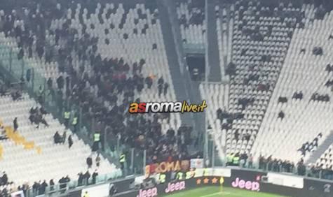 Juventus-Roma settore ospiti