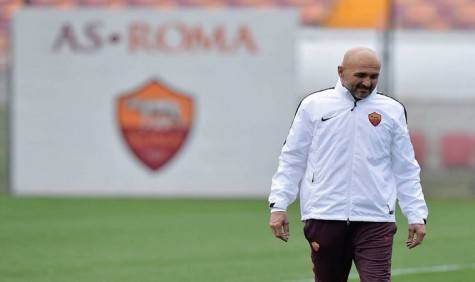 Spalletti a Trigoria (foto asroma.it)