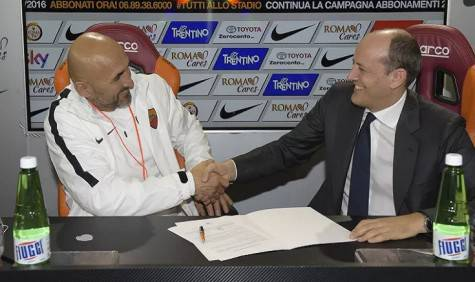 Spalletti e Baldissoni (foto da asroma.com)