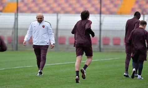 Spalletti in allenamento (foto As Roma)