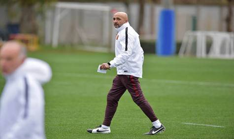 Spalletti in allenamento (foto As Roma)