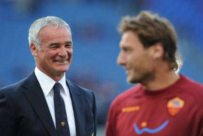 Claudio Ranieri e Francesco Totti