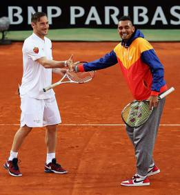 Totti e Kyrgios (getty images) AsRl