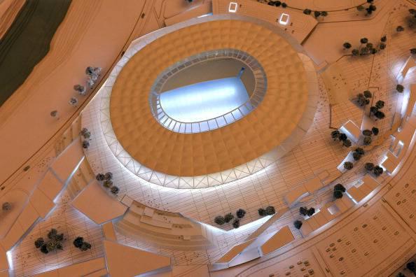 Modello del nuovo 'Stadio della Roma'