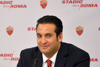 """AS Roma's Ceo Italo Zanzi attends a press conference to present the Rome's new stadium project on March 26, 2014 in Rome. AS Roma officially announced plans for a new, purpose-built 52,000-seater stadium that would end the Serie A club's shared tenancy of the Olympic Stadium with city rivals Lazio. Under American chairman James Pallotta, Roma, currently second in the league 11 points behind champions Juventus, are bidding to become """"one of the world's most successful football clubs"""", according to the club. Pallotta sees the move to the 'Stadio della Roma' to the south-west of the city as a major step in the Giallorossi's long-term strategy of challenging for titles at home and abroad. AFP PHOTO / GABRIEL BOUYS (Photo credit should read GABRIEL BOUYS/AFP/Getty Images)"""