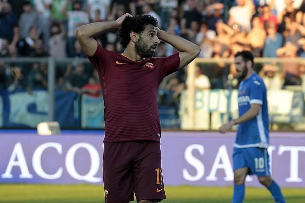 Roma: trauma alla caviglia per Salah, derby a rischio