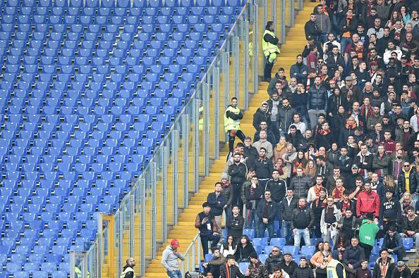 Barriere dello Stadio Olimpico, via prima di Lazio-Roma