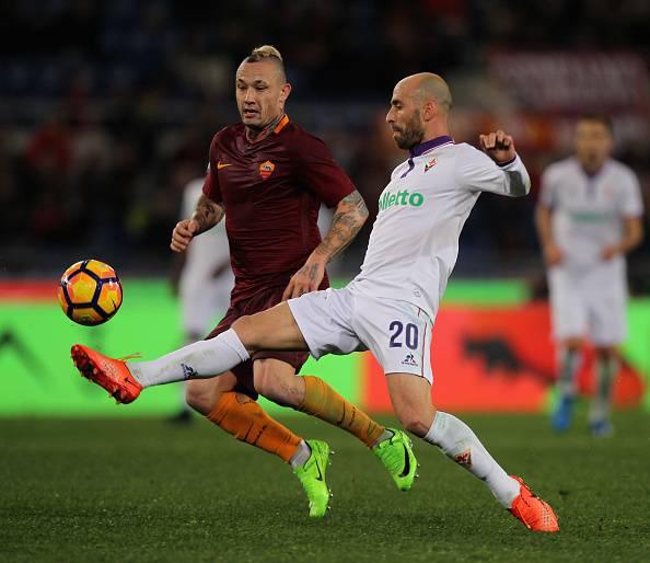 Nainggolan e Borja Valero Roma Fiorentina