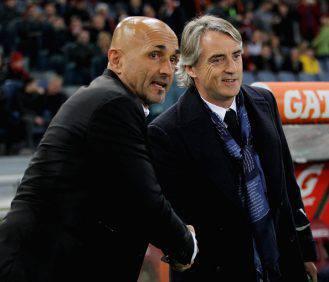 Spalletti e Mancini panchina roma