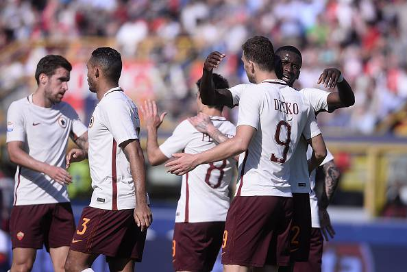 Dzeko Bologna Roma