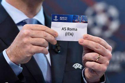 as roma sorteggio champions league