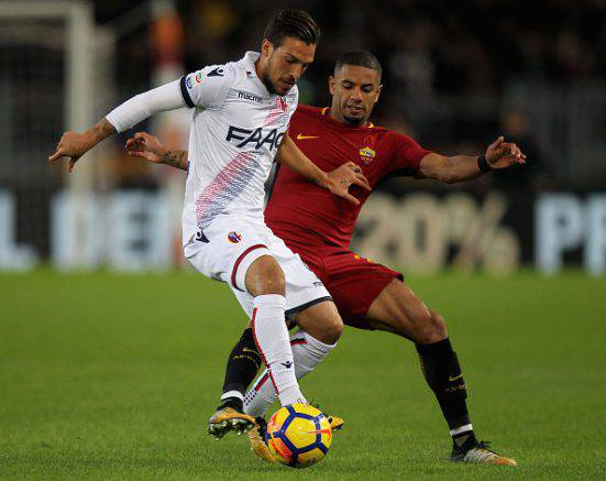 Roma-Bologna: doppio infortunio per Defrel e Bruno Peres