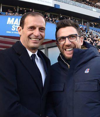 Massimiliano Allegri e Eusebio Di Francesco