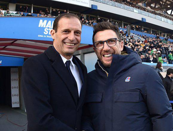 Massimiliano Allegri e Eusebio Di Francesco