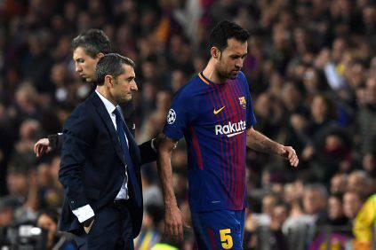 Barcellona Roma infortunio recupero Busquets