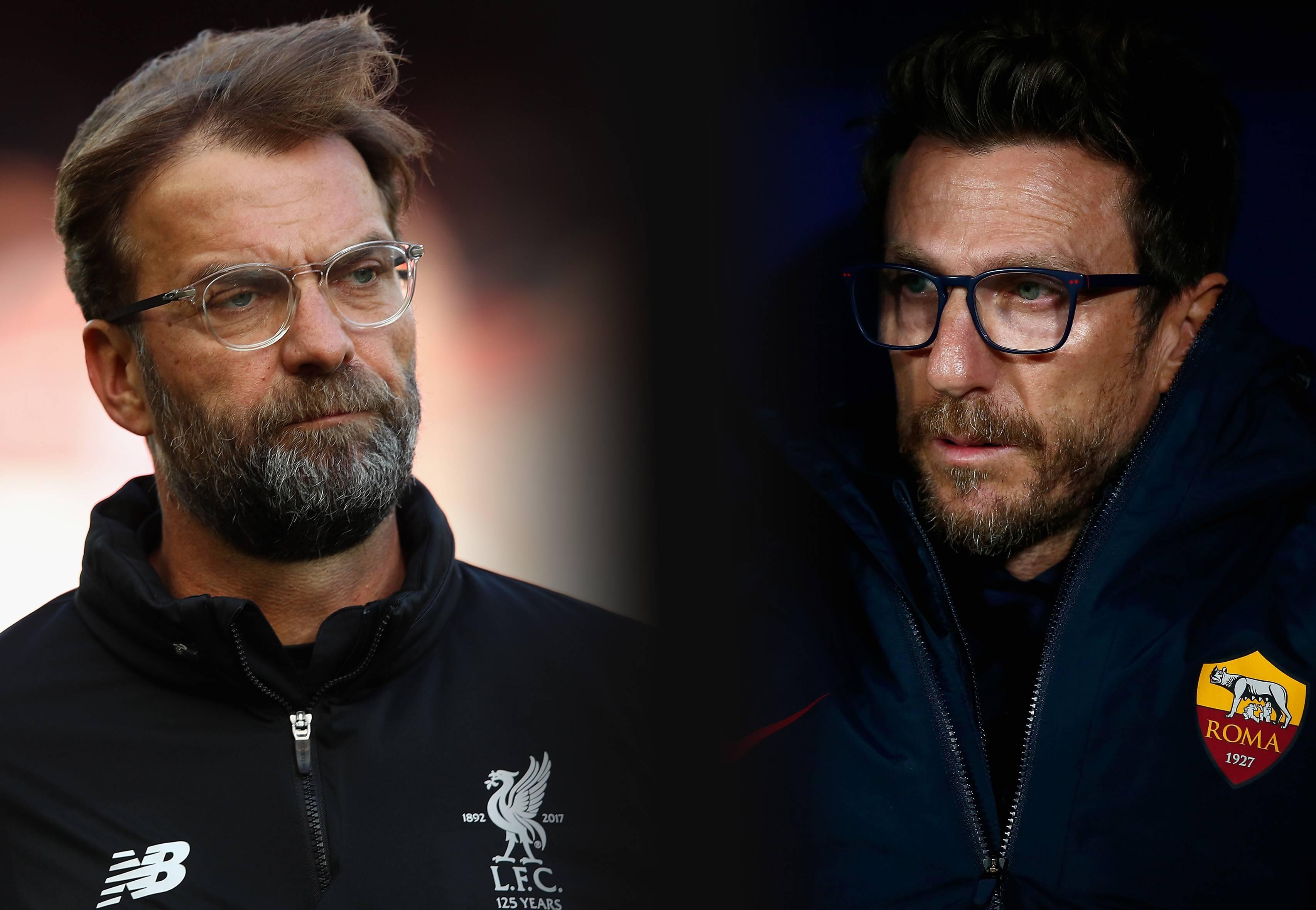 formazioni ufficiali Liverpool Roma