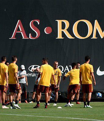 allenamento roma trigoria