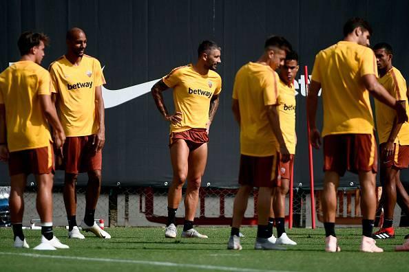 allenamento roma derby