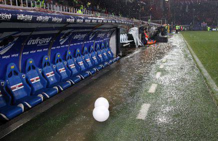 Sampdoria-Roma, allerta meteo: rischio rinvio