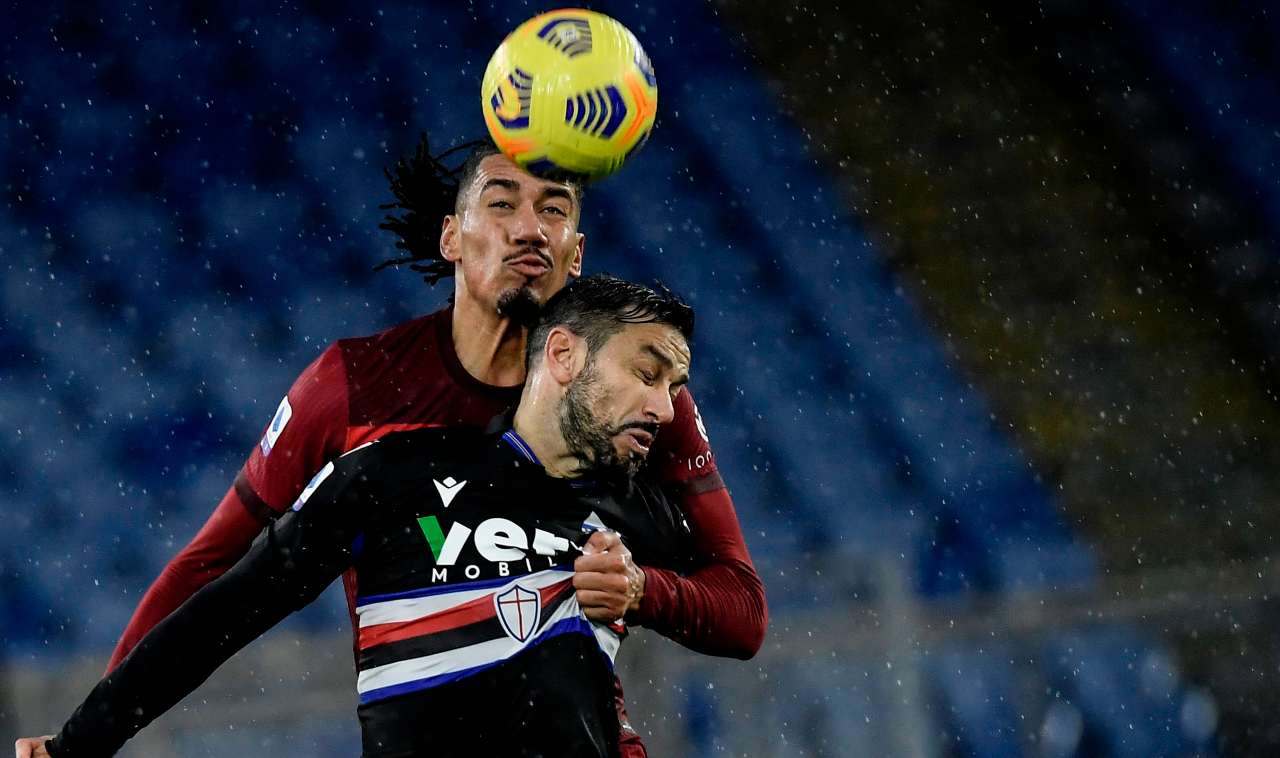 Voti Roma Sampdoria Smalling