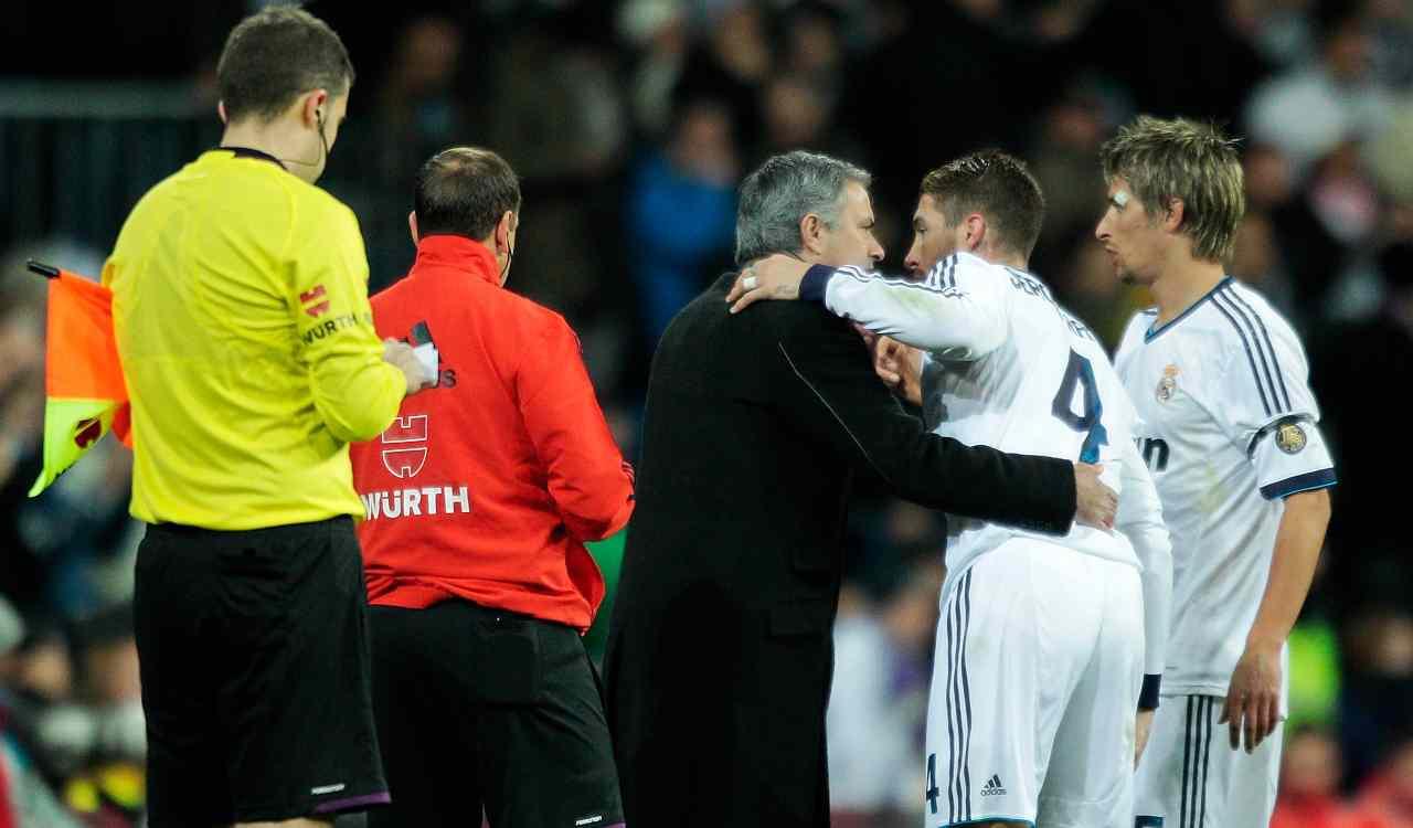 Mourinho e Sergio Ramos